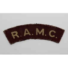 Royal Army Medical Corps (R.A.M.C.) Printed Shoulder Title