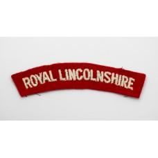Royal Lincolnshire Regiment (ROYAL LINCOLNSHIRE) Cloth Shoulder Title