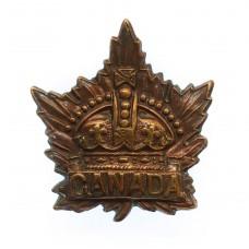 Canadian WW1 Canada General Service Collar Badge (Caron Bros 1915