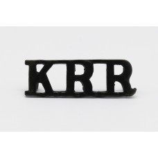 King's Royal Rifle Corps (K.R.R.) Shoulder Title
