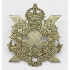 Canadian Scottish Regiment Cap Badge - King's Crown