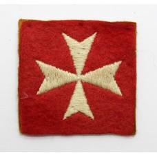 British Troops Malta Garrison Cloth Formation Sign