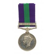 General Service Medal (Clasp - Malaya) - Rfn. J. Muir, Cameronian