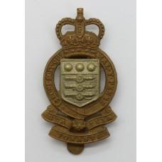 Royal Army Ordnance Corps (R.A.O.C.) Bi-metal Cap Badge - Queen's