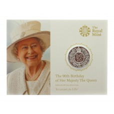 Royal Mint 2016 United Kingdom Brilliant Uncirculated Fine Silver £20 Coin - The 90th Birthday of Her Majesty The Queen