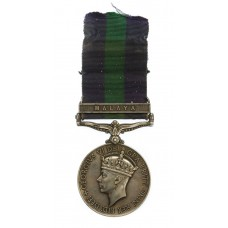 General Service Medal (Clasp - Malaya) - Pte. P Hendry, Gordon Hi