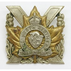 Canadian The Perth Regiment Cap Badge - King's Crown