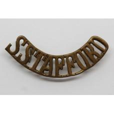 South Staffordshire Regiment (S.STAFFORD) Brass Shoulder Title