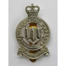 Northumberland Hussars Cap Badge - Queen's Crown