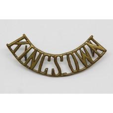 Kings Own Royal Border Regiment (KINGS.OWN) Brass Shoulder Title