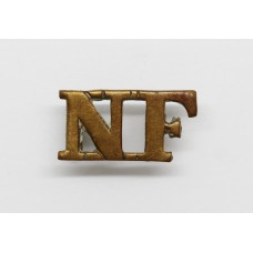 Northumberland Fusiliers (N.F) Brass Shoulder Title
