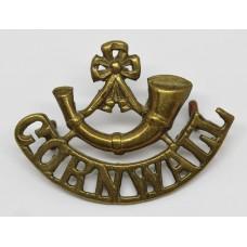 Duke of Cornwall's Light Infantry (Bugle over CORNWALL) Brass Shoulder Title