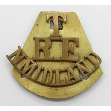 Royal Engineers North Midlands Territorials (T/R.E./N.MIDLAND) Shoulder Title