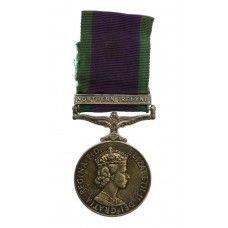 Campaign Service Medal (Clasp - Northern Ireland) - Pte. K.J. Law