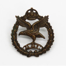 Army Air Corps (A.A.C.) Officer's Service Dress Collar Badge - Ki