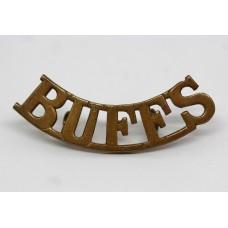 East Kent Regiment (BUFFS) Brass Shoulder Title
