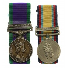Campaign Service Medal (Clasp - Northern Ireland) and Gulf Medal