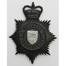 Gwynedd Constabulary Night Helmet Plate - Queens Crown