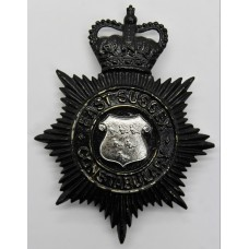 East Sussex Constabulary Night Helmet Plate - Queen's Crown