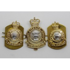 Army Catering Corps Anodised (Staybrite) Cap Badge & Pair of Collars
