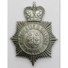 Manchester & Salford Police Helmet Plate - Queens Crown