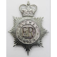 Oldham Borough Police Helmet Plate - Queens Crown