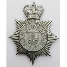 Sheffield City Police Helmet Plate - Queens Crown