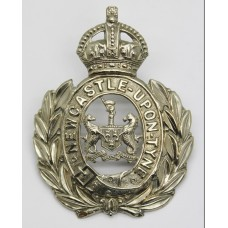 Newcastle - Upon - Tyne City Police Wreath Helmet Plate - King's