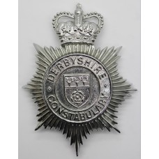 Derbyshire Constabulary Helmet Plate - Queen's Crown