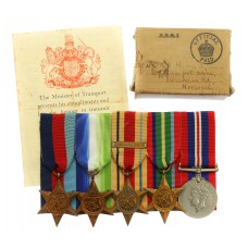 WW2 Merchant Navy Medal Group of Five with Box of Issue & Entitlement Slip - Alfred Harry Howlett