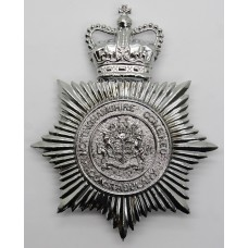 Nottinghamshire Combined Constabulary Helmet Plate - Queen's Crow