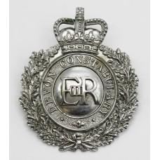 Devon Constabulary Wreath Helmet Plate - Queen's Crown