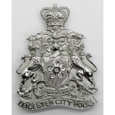 Leicester City Police Helmet Plate - Queen's Crown
