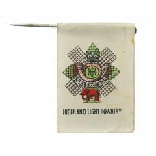 WW1Highland Light Infantry (H.L.I.) Flag Day Fundraising Pin Badge