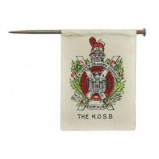 WW1 King's Own Scottish Borderers (K.O.S.B.) Flag Day Fundraising Pin Badge