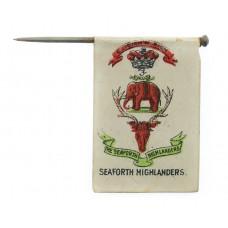 WW1 Seaforth Highlanders Flag Day Fundraising Pin Badge