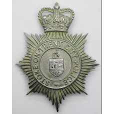 Stoke - on - Trent City Police Helmet Plate - Queen's Crown
