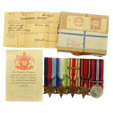 WW2 Merchant Navy Medal Group of Five - Cadet Harold Skelly