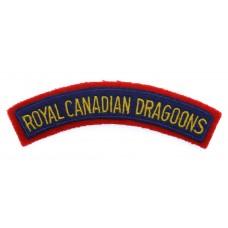 Royal Canadian Dragoons (ROYAL CANADIAN DRAGOONS) Cloth Shoulder Title