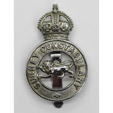 Surrey Constabulary Cap Badge - King's Crown