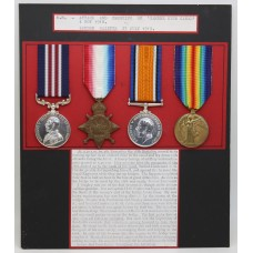 WW1 Military Medal, 1914-15 Star, British War & Victory Medal Group of Four - Pte. J. Moores, 16th (2nd Salford Pals) Bn. Lancashire Fusiliers (Awarded for Attack and Crossing of Sambre Oise Canal Double VC Action)