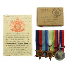 WW2 Merchant Navy Casualty Medal Group of Three with Box of Issue and Condolence Slip - Purser O.D.G. Thomas, Merchant Navy, M.V. William Wilberforce - K.I.A.