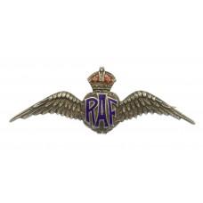 Royal Air Force (R.A.F.) Sterling Silver & Enamel Sweetheart Brooch