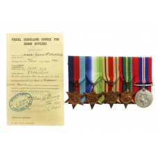 WW2 Merchant Navy Medal Group of Five with Radio Oficer's Visual