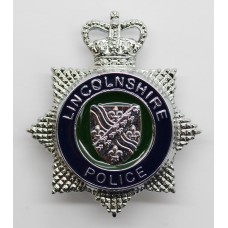 Lincolnshire Police Enamelled Cap Badge - Queen's Crown