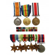 Kendra Family WW1 and WW2 Father & Son Medal Group - Army Ser
