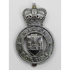 Wigan Borough Police Cap Badge - Queen's Crown