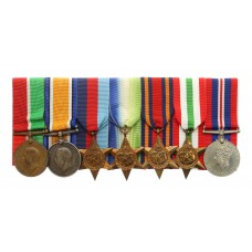 WW1 and WW2 Merchant Navy Medal Group of Seven - 2nd Engineer George Brade, Merchant Navy