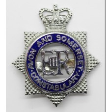 Avon and Somerset Constabulary Senior Officer's Enamelled Cap Badge - Queen's Crown