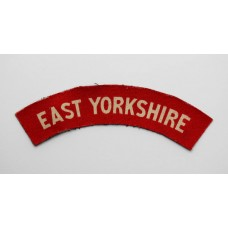 East Yorkshire Regiment (EAST YORKSHIRE) WW2 Printed Shoulder Title